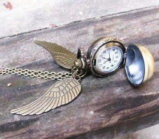 Harry Potter Golden Snitch Pocket Watch Locket Necklace