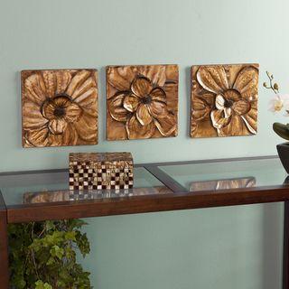Baxley 3 Piece Metallic Gold Metal Wall Panel Set