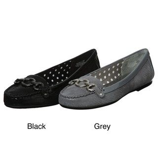 Anne Klein Womens Shirley Leather Flats