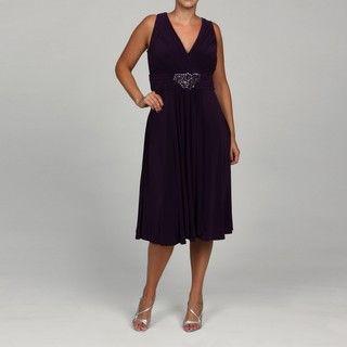 Jessica Howard Womens Plus Embellished Dress