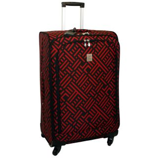 Jenni Chan Black and Red 28 inch Wheeled Upright Luggage Today $94.99