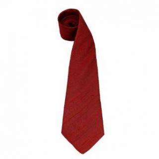 Red Tie for Men Raw Silk Necktie Accessories Clothing from