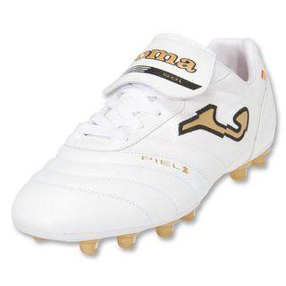 Joma Gol Soccer Shoes (White/Metallic Gold/Black) Shoes