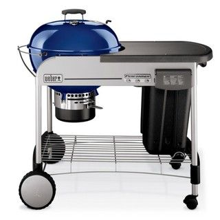 Weber 22.5 inch Performer Dark Blue Touch and Go Ignition Charcoal