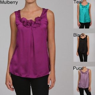 Violet & Claire Womens Missy Sleeveless Blouse