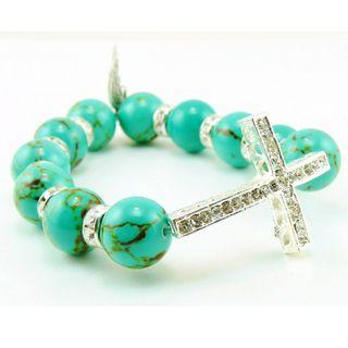 Pretty Little Style Turquoise Cross Bracelet