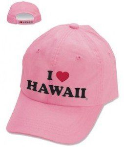Hawaiian Hat I Love Hawaii Pink Clothing