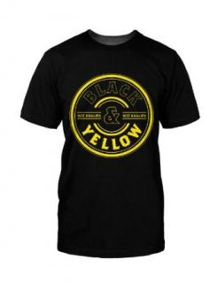 Wiz Khalifa   Black and Yellow T Shirt, XXXL Clothing