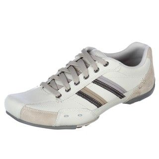 Skechers Mens Lazarus Off white Leather Athletic Inspired Shoes