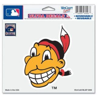Cleveland Indians Mascot 5x6 Cling Decal Sports