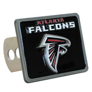 Atlanta Falcons Large Zinc Trailer Hitch Cover   NFL