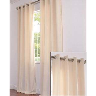 Signature Grommet Ivory Velvet 108 Inch Curtain Panel