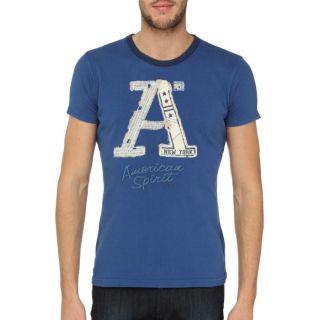 AMERICAN SPIRIT T Shirt Team Homme Bleu Bleu   Achat / Vente T SHIRT