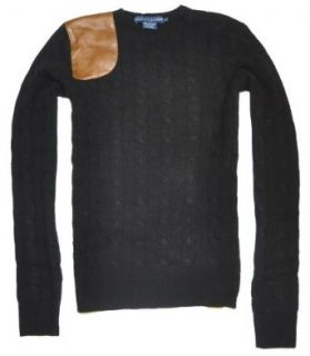 Ralph Lauren Women Wool/Cashmere Leather Patch Sweater (S