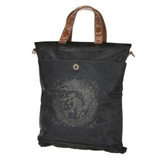 Collection Natural Born. Coloris  noir. Sac shopping en toile nylon