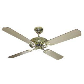 Polished Brass Finish 52 inch Ceiling Fan