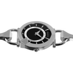 Gucci Womens Chiodo Stainless Steel Black Face Watch