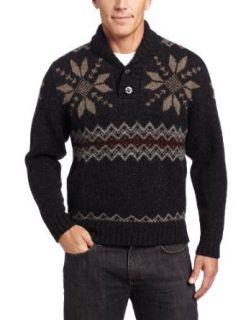Pendleton Mens Fair Isle Shawl Collar Sweater Clothing