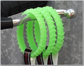 Ride On Green Glow N Dark Knobby Dirtbike Tire Wristband