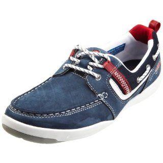 Rockport Mens Ocean Dock Boat Shoe,Navy/Red,7 M Us Shoes
