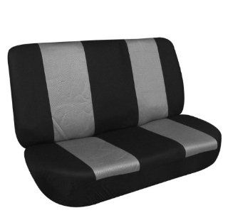 FH FB102R010 Classic Bench Car Seat Cover Gray / Black