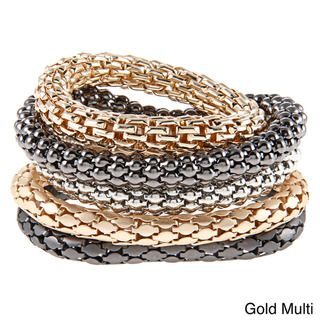 KC Signatures Two tone 5 piece Stacked Bangle Set