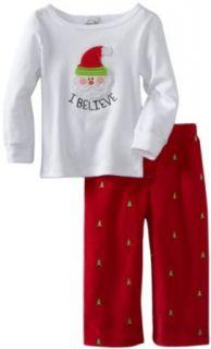 Mud Pie Unisex Baby Infant I Believe Santa 2 piece Set