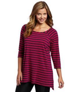 Calvin Klein Performance Womens Plus Size Stripe Tunic