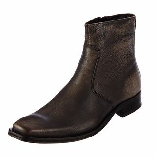 Kenneth Cole New York Mens Clean Cut Black Leather Boots FINAL SALE