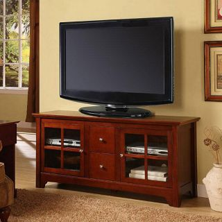 Brown Solid Wood 52 inch TV Stand
