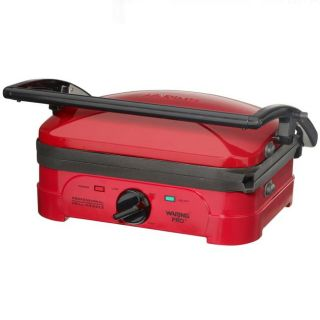 Waring Pro WGG500RQ Red Electric Indoor Grill and Griddle