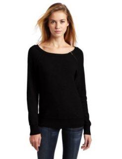 Lamade Womens 100% Cashmere Jenna Raglan Sweater, Black