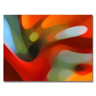 Amy Vangsgard Red Tree Light Canvas Art