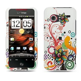 Autumn Flower HTC Droid Incredible Crystal Rubber Case