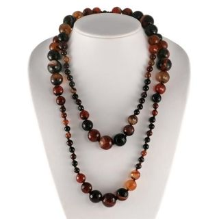 Maddy Emerson Honey Agate Bead Necklace
