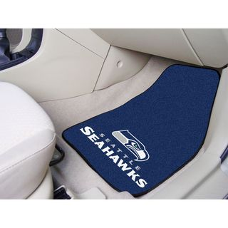 Fanmats Seattle Seahawks 2 piece Carpeted Nylon Car Mats
