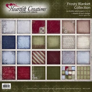Heartfelt 12x12 inch Double Sided 48 page Frosty Blanket Paper