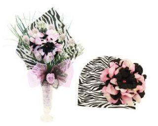 Jamie Rae Single Stem Zestfully Zebra Bouquet: Clothing
