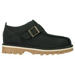 Lugz Mens Pathway Black Durabrush Buckled Slip on Boots