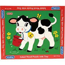 Wooden Cow Puzzle: Toys & Games