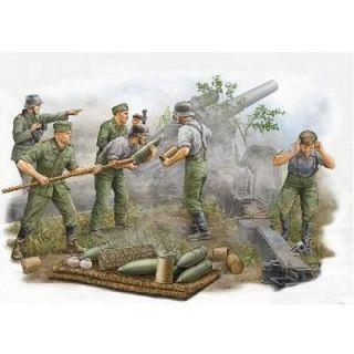 Set de 5 figurines artlleurs allemands en action   5 figurines en