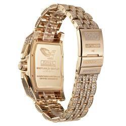 Breitling Mens Flying B Chronograph 18k Rose Gold Diamond Watch