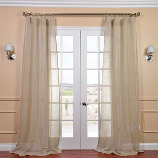Linen Open Weave Natural 84 inch Sheer Curtain Panel