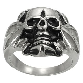 Daxx Stainless Steel Mens Skull Fashion Ring