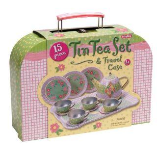 Tin Tea Set and Travel Case