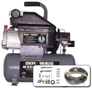 Iron Horse IHHD103L AK 3.2 Gallon 125 PSI Max Hot Dog Air Compressor
