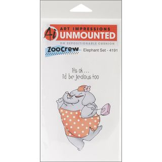 Art Impressions Zoo Crew Cling Rubber Stamp Elephant Set