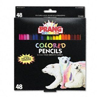 Prang Colored Pencils, 3.3MM Regular Core, 7 Inch Long, 48