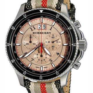 Burberry Mens Endurance Fabric Chronograph Watch