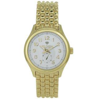 Jules Jurgensen Mens Casual Goldtone Stainless Steel White Dial Watch